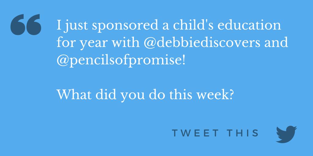 I Helped Debbie Fund a Student - Tweet This