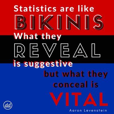 Statistics are like bikinis GIF4