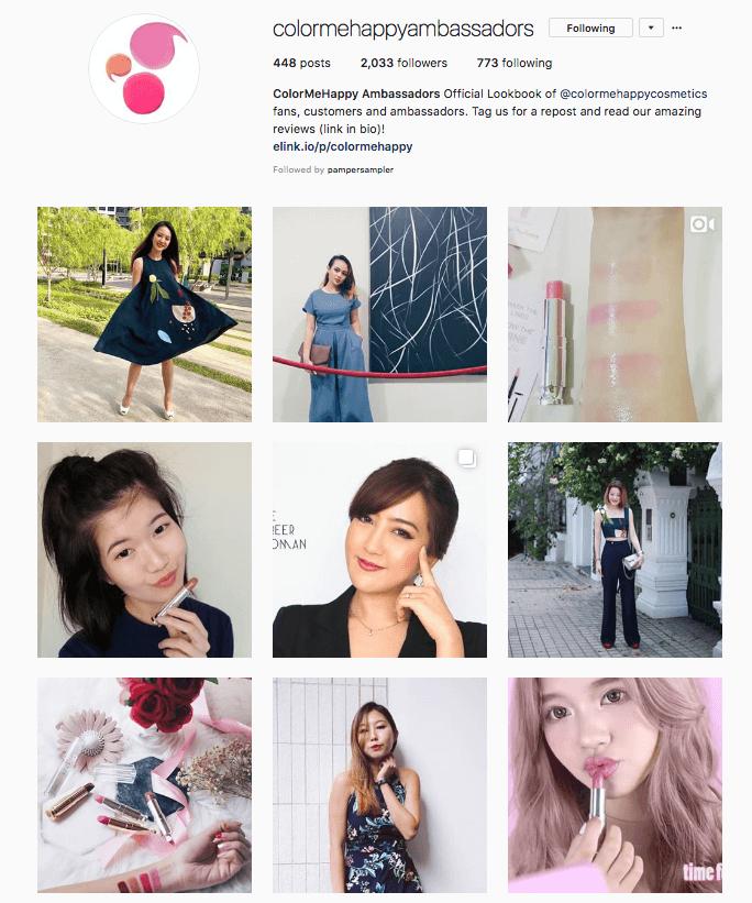 Colormehappy Ambassadors Instagram account